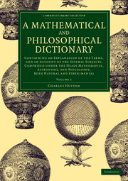 A Mathematical and Philosophical Dictionary