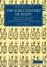 The Early History of Egypt