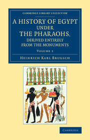 A History of Egypt under the Pharaohs, Derived Entirely from the Monuments