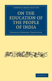 On the Education of the People of India