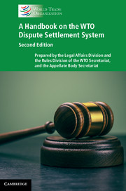 A Handbook on the WTO Dispute Settlement System
