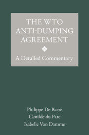 The WTO Anti-Dumping Agreement