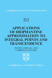 Applications of Diophantine Approximation to Integral Points and Transcendence