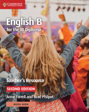 English B for the IB Diploma Teacher's Resource with Cambridge Elevate