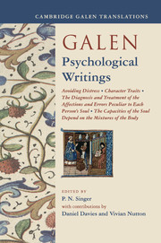 Galen: Psychological Writings