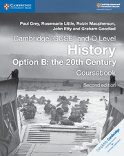 Coursebook Option B: the 20th Century
