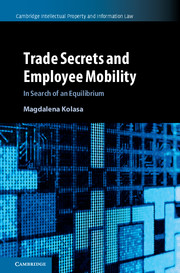 Trade Secrets and Employee Mobility by Magdalena Kolasa