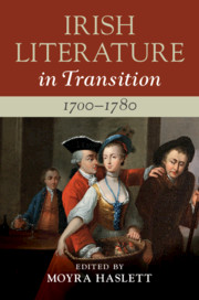 Irish Literature in Transition, 1700–1780