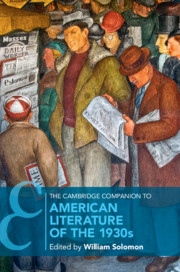 The Cambridge Companion to American Literature of the 1930s