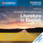 Cambridge IGCSE® and O Level Literature in English Cambridge Elevate Teacher's Resource Access Card