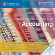Cambridge IGCSE® and O Level Accounting Cambridge Elevate Teacher's Resource Access Card