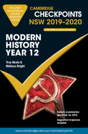 Cambridge Checkpoints NSW 2019-20 Modern History Year 12 and QuizMeMore Online