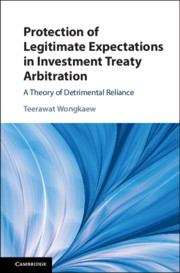 Protection of Legitimate Expectations in Investment Treaty Arbitration