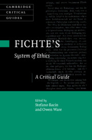 Fichte's System of Ethics