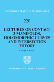 Lectures on Contact 3-Manifolds, Holomorphic Curves and Intersection Theory