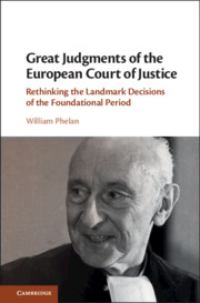 Great Judgments of the European Court of Justice