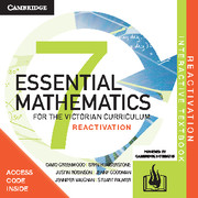 Essential Mathematics for the Victorian Curriculum Year 7 Reactivation (Card)