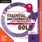 Essential Mathematics Gold for the Australian Curriculum Year 9 Reactivation (Card)