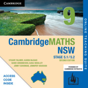 Cambridge Maths Stage 5 NSW Year 9 5.1/5.2 Online Teaching Suite (Card)