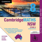 Cambridge Maths Stage 4 NSW Year 8 Online Teaching Suite (Card)
