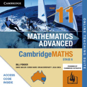 Cambridge Maths Stage 6 NSW Advanced Year 11 Online Teaching Suite (Card)