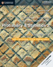 Probability & Statistics 2 Coursebook with Cambridge Online Mathematics (2 Years)
