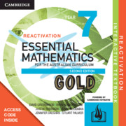 Essential Mathematics Gold for the Australian Curriculum Year 7 Reactivation (Card)