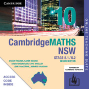 Cambridge Maths Stage 5 NSW Year 10 5.1/5.2 Online Teaching Suite (Card)