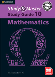 Study and Master Mathematics Study Guide Grade 10