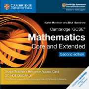 Cambridge IGCSE® Mathematics Core and Extended Cambridge Elevate Teacher's Resource Access Card