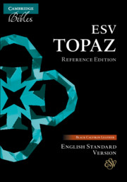 ESV Topaz Reference Edition, Black Calfskin Leather, ES675:XR