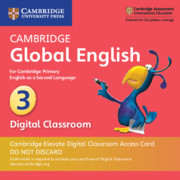 Cambridge Global English Stage 3 Cambridge Elevate Digital Classroom Access Card (1 Year)