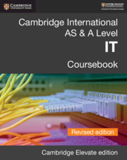 Cambridge International AS & A Level IT Coursebook Revised Edition Cambridge Elevate Edition (2 Years)