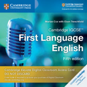 Cambridge IGCSE™  First Language English Cambridge Elevate Digital Classroom Access Card (1 Year)