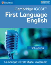 Cambridge IGCSE™  First Language English Cambridge Elevate Digital Classroom (1 Year)