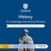 Cambridge International AS Level History Cambridge Elevate Teacher's Resource Access Card