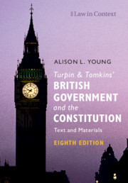Turpin and Tomkins' British Government and the Constitution