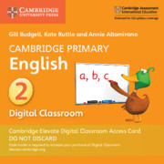 Cambridge Primary English Stage 2 Cambridge Elevate Digital Classroom Access Card (1 Year)