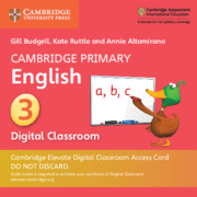 Cambridge Primary English Stage 3 Cambridge Elevate Digital Classroom Access Card (1 Year)