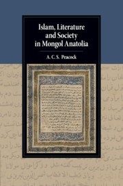 Islam, Literature and Society in Mongol Anatolia