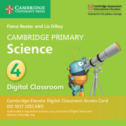 Cambridge Primary Science Stage 4 Cambridge Elevate Digital Classroom Access Card (1 Year)