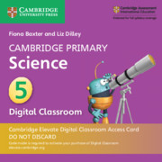 Cambridge Primary Science Stage 5 Cambridge Elevate Digital Classroom Access Card (1 Year)