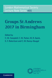 Groups St Andrews 2017 in Birmingham