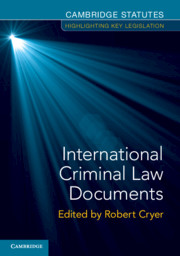 International Criminal Law Documents