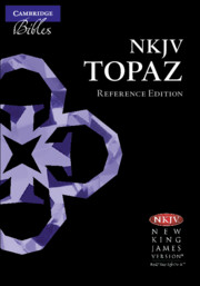 NKJV Topaz Reference Edition, Black Goatskin Leather, NK676:XRL