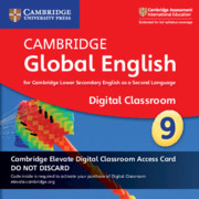Cambridge Global English Stage 9 Cambridge Elevate Digital Classroom Access Card (1 Year)