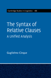 The Syntax of Relative Clauses