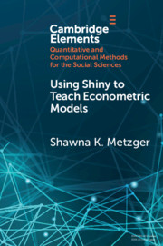 Elements in Quantitative and Computational Methods for the Social Sciences
