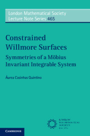 Constrained Willmore Surfaces