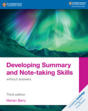 Developing Summary and Note-taking Skills without answers